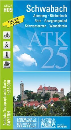 ATK25-H09 Schwabach (Amtliche Topographische Karte 1:25000) von Landesamt für Digitalisierung,  Breitband und Vermessung,  Bayern