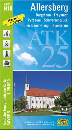 ATK25-H10 Allersberg (Amtliche Topographische Karte 1:25000) von Landesamt für Digitalisierung,  Breitband und Vermessung,  Bayern