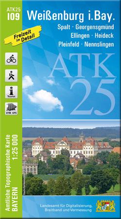 ATK25-I09 Weißenburg i.Bay. (Amtliche Topographische Karte 1:25000) von Landesamt für Digitalisierung,  Breitband und Vermessung,  Bayern