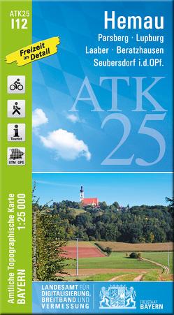 ATK25-I12 Hemau (Amtliche Topographische Karte 1:25000) von Landesamt für Digitalisierung,  Breitband und Vermessung,  Bayern