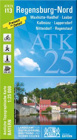 ATK25-I13 Regensburg-Nord (Amtliche Topographische Karte 1:25000) von Landesamt für Digitalisierung,  Breitband und Vermessung,  Bayern
