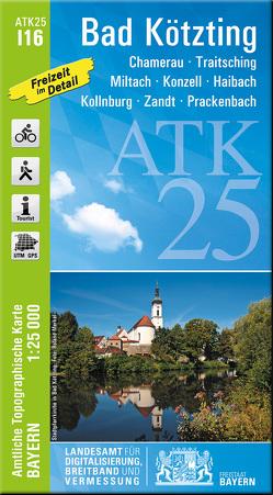 ATK25-I16 Bad Kötzting (Amtliche Topographische Karte 1:25000) von Landesamt für Digitalisierung,  Breitband und Vermessung,  Bayern