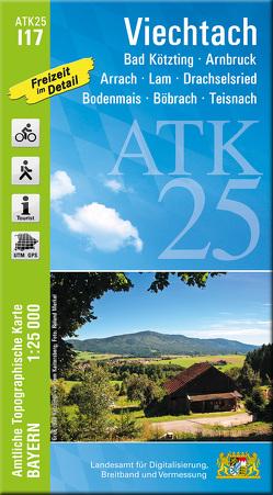 ATK25-I17 Viechtach (Amtliche Topographische Karte 1:25000) von Landesamt für Digitalisierung,  Breitband und Vermessung,  Bayern