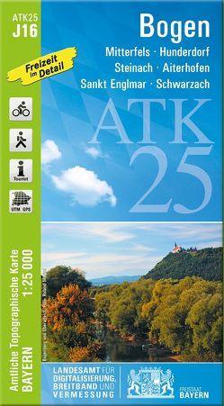 ATK25-J16 Bogen (Amtliche Topographische Karte 1:25000) von Landesamt für Digitalisierung,  Breitband und Vermessung,  Bayern