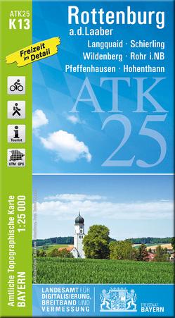 ATK25-K13 Rottenburg a.d.Laaber (Amtliche Topographische Karte 1:25000) von Landesamt für Digitalisierung,  Breitband und Vermessung,  Bayern