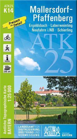 ATK25-K14 Mallersdorf-Pfaffenberg (Amtliche Topographische Karte 1:25000) von Landesamt für Digitalisierung,  Breitband und Vermessung,  Bayern
