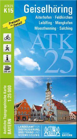 ATK25-K15 Geiselhöring (Amtliche Topographische Karte 1:25000) von Landesamt für Digitalisierung,  Breitband und Vermessung,  Bayern