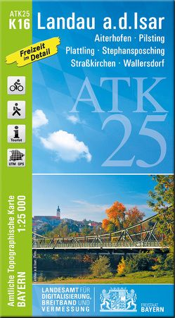 ATK25-K16 Landau a.d.Isar (Amtliche Topographische Karte 1:25000) von Landesamt für Digitalisierung,  Breitband und Vermessung,  Bayern