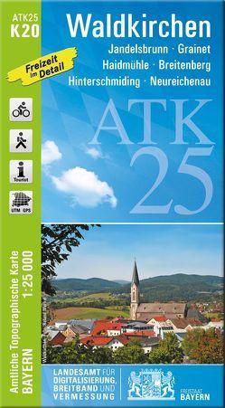 ATK25-K20 Waldkirchen (Amtliche Topographische Karte 1:25000) von Landesamt für Digitalisierung,  Breitband und Vermessung,  Bayern