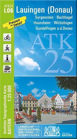 ATK25-L06 Lauingen (Donau) (Amtliche Topographische Karte 1:25000) von Landesamt für Digitalisierung,  Breitband und Vermessung,  Bayern