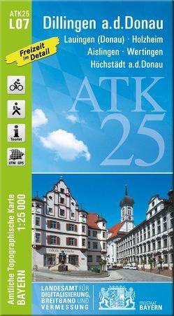 ATK25-L07 Dillingen a.d.Donau (Amtliche Topographische Karte 1:25000) von Landesamt für Digitalisierung,  Breitband und Vermessung,  Bayern