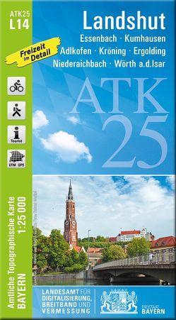 ATK25-L14 Landshut (Amtliche Topographische Karte 1:25000) von Landesamt für Digitalisierung,  Breitband und Vermessung,  Bayern