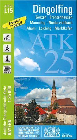 ATK25-L15 Dingolfing (Amtliche Topographische Karte 1:25000) von Landesamt für Digitalisierung,  Breitband und Vermessung,  Bayern