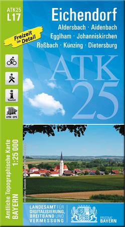ATK25-L17 Eichendorf (Amtliche Topographische Karte 1:25000) von Landesamt für Digitalisierung,  Breitband und Vermessung,  Bayern