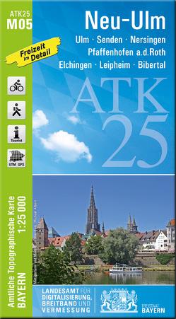 ATK25-M05 Neu-Ulm (Amtliche Topographische Karte 1:25000) von Landesamt für Digitalisierung,  Breitband und Vermessung,  Bayern