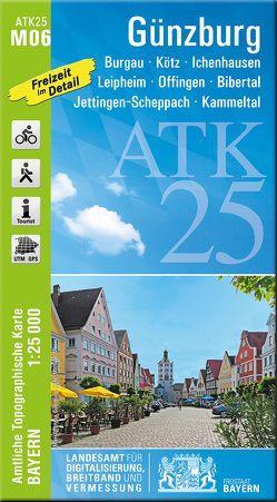 ATK25-M06 Günzburg (Amtliche Topographische Karte 1:25000) von Landesamt für Digitalisierung,  Breitband und Vermessung,  Bayern