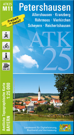 ATK25-M11 Petershausen (Amtliche Topographische Karte 1:25000)