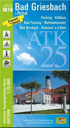 ATK25-M18 Bad Griesbach i.Rottal (Amtliche Topographische Karte 1:25000) von Landesamt für Digitalisierung,  Breitband und Vermessung,  Bayern
