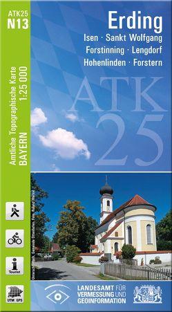 ATK25-N13 Erding (Amtliche Topographische Karte 1:25000) von Landesamt für Digitalisierung,  Breitband und Vermessung,  Bayern