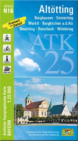 ATK25-N16 Altötting (Amtliche Topographische Karte 1:25000) von Landesamt für Digitalisierung,  Breitband und Vermessung,  Bayern