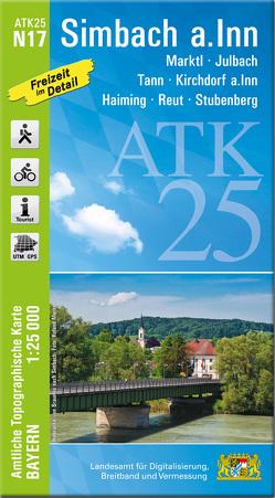 ATK25-N17 Simbach a.Inn (Amtliche Topographische Karte 1:25000) von Landesamt für Digitalisierung,  Breitband und Vermessung,  Bayern