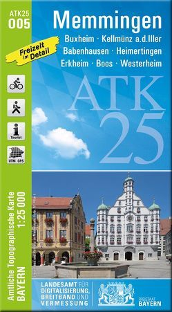 ATK25-O05 Memmingen (Amtliche Topographische Karte 1:25000) von Landesamt für Digitalisierung,  Breitband und Vermessung,  Bayern