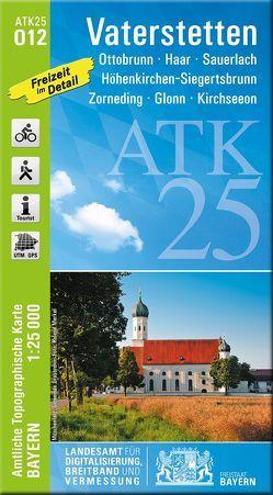 ATK25-O12 Vaterstetten (Amtliche Topographische Karte 1:25000) von Landesamt für Digitalisierung,  Breitband und Vermessung,  Bayern