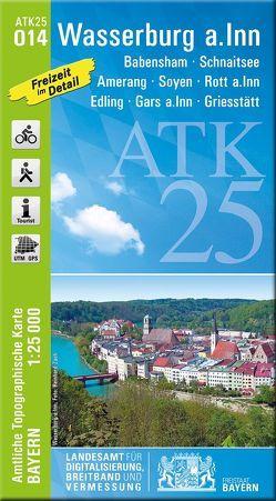 ATK25-O14 Wasserburg a.Inn (Amtliche Topographische Karte 1:25000) von Landesamt für Digitalisierung,  Breitband und Vermessung,  Bayern
