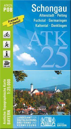 ATK25-P08 Schongau (Amtliche Topographische Karte 1:25000) von Landesamt für Digitalisierung,  Breitband und Vermessung,  Bayern