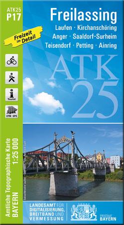ATK25-P17 Freilassing (Amtliche Topographische Karte 1:25000) von Landesamt für Digitalisierung,  Breitband und Vermessung,  Bayern