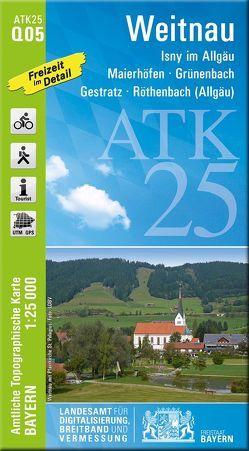 ATK25-Q05 Weitnau (Amtliche Topographische Karte 1:25000) von Landesamt für Digitalisierung,  Breitband und Vermessung,  Bayern