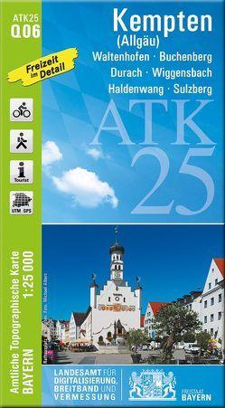 ATK25-Q06 Kempten (Allgäu) (Amtliche Topographische Karte 1:25000) von Landesamt für Digitalisierung,  Breitband und Vermessung,  Bayern