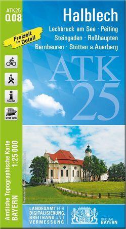 ATK25-Q08 Halblech (Amtliche Topographische Karte 1:25000) von Landesamt für Digitalisierung,  Breitband und Vermessung,  Bayern