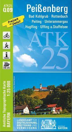 ATK25-Q09 Peißenberg (Amtliche Topographische Karte 1:25000) von Landesamt für Digitalisierung,  Breitband und Vermessung,  Bayern