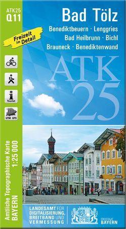 ATK25-Q11 Bad Tölz (Amtliche Topographische Karte 1:25000) von Landesamt für Digitalisierung,  Breitband und Vermessung,  Bayern