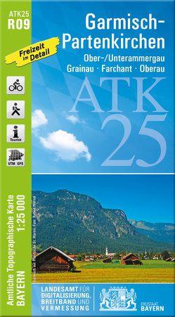 ATK25-R09 Garmisch-Partenkirchen (Amtliche Topographische Karte 1:25000) von Landesamt für Digitalisierung,  Breitband und Vermessung,  Bayern