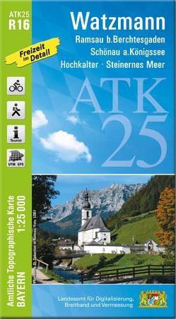 ATK25-R16 Watzmann (Amtliche Topographische Karte 1:25000)