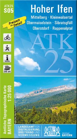 ATK25-S05 Hoher Ifen (Amtliche Topographische Karte 1:25000) von Landesamt für Digitalisierung,  Breitband und Vermessung,  Bayern
