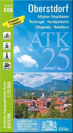 ATK25-S06 Oberstdorf (Amtliche Topographische Karte 1:25000) von Landesamt für Digitalisierung,  Breitband und Vermessung,  Bayern