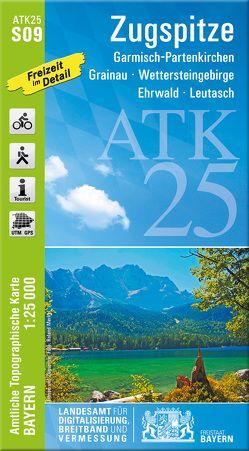 ATK25-S09 Zugspitze (Amtliche Topographische Karte 1:25000) von Landesamt für Digitalisierung,  Breitband und Vermessung,  Bayern