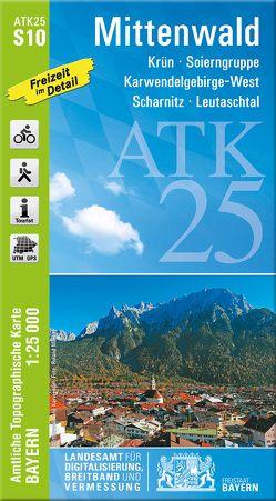 ATK25-S10 Mittenwald (Amtliche Topographische Karte 1:25000) von Landesamt für Digitalisierung,  Breitband und Vermessung,  Bayern