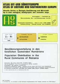 Atlas Ost- und Südosteuropa /Atlas of Eastern and Southeastern Europe…. / Nr 2: Bevölkerung /Population / Bevölkerungsverteilung in den ländlichen Gemeinden Rumäniens /PopulationDistribution in the Rural Communes of Romania von Jordan,  Peter, Sauberer,  Michael, Surd,  Vasile, Tomasi,  Elisabeth