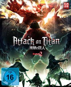 Attack on Titan – 2. Staffel – Blu-ray 1 + Sammelschuber (Limited Edition) von Araki,  Tetsuro