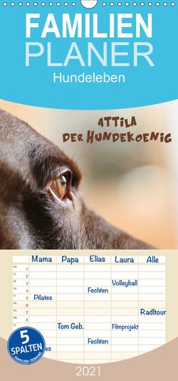 Attila, Der Hundekönig – Familienplaner hoch (Wandkalender 2021 , 21 cm x 45 cm, hoch) von Hultsch,  Heike