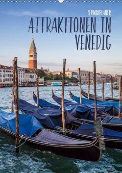 Attraktionen in Venedig / Terminplaner (Wandkalender 2019 DIN A2 hoch) von Viola,  Melanie