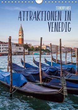 Attraktionen in Venedig / Terminplaner (Wandkalender 2019 DIN A4 hoch) von Viola,  Melanie