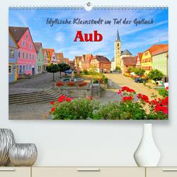 Aub – Idyllische Kleinstadt im Tal der Gollach (Premium, hochwertiger DIN A2 Wandkalender 2020, Kunstdruck in Hochglanz) von LianeM