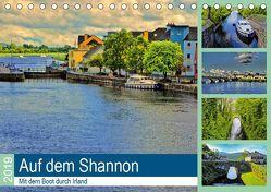 Auf dem Shannon – Mit dem Boot durch Irland (Tischkalender 2019 DIN A5 quer) von Stempel,  Christoph