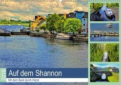 Auf dem Shannon – Mit dem Boot durch Irland (Wandkalender 2018 DIN A2 quer) von Stempel,  Christoph