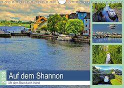 Auf dem Shannon – Mit dem Boot durch Irland (Wandkalender 2018 DIN A4 quer) von Stempel,  Christoph